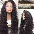 Peruano onda profunda cheia do laço perucas de cabelo humano virgem 100 cabelo humano perucas para africano americanos Glueless rendas frente peruca de cabelo humano