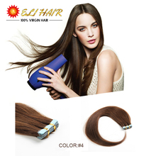 18″20″22″24″100% Natural Human Hair Real 7A Brazilain Remy Tape Hair Straight Virgin Hair Extensions Optional Tape In Human Hair