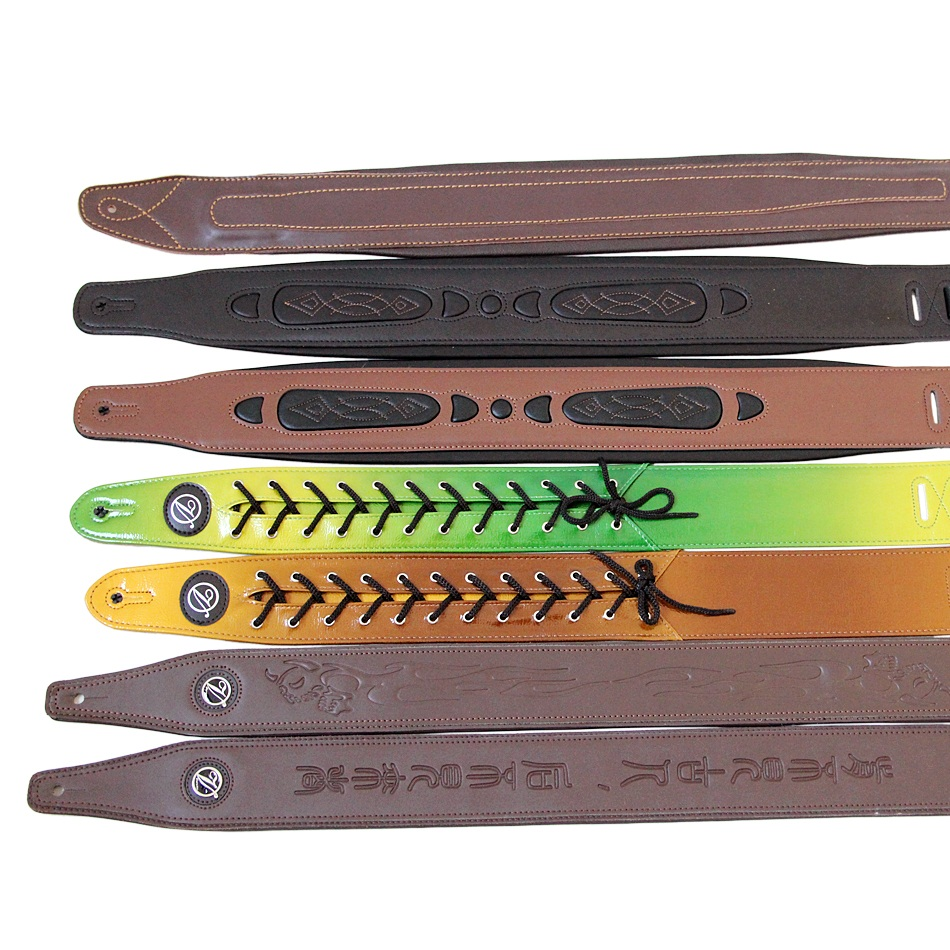 Diverse Choices Super Leather Belt Straps for Bass Guitar / Electric Bass Belts / Electric & Acoustic Guitar Straps Promotion