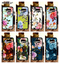 Bright art flower floral soft TPU edge phone cases for samsung s6 plus s7 s8 s9 s10 lite e note8 note9 cover case