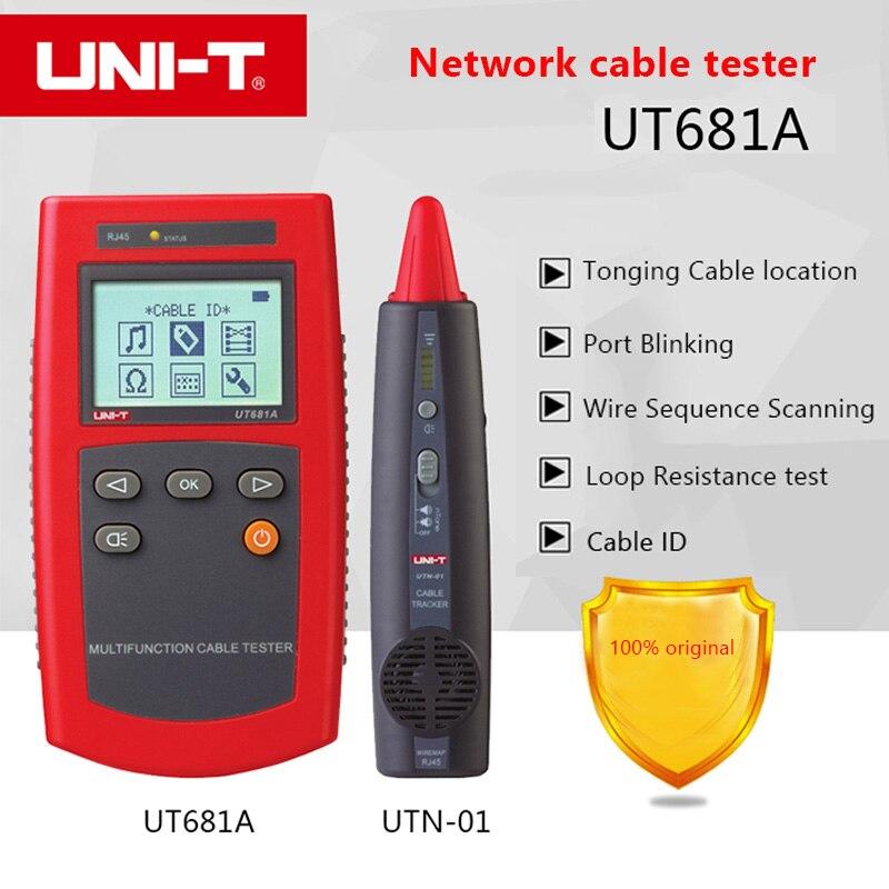 UNI T UT681A lan network cable tester rj45 rj11 cable locator detector Hunt Instrument Check Line