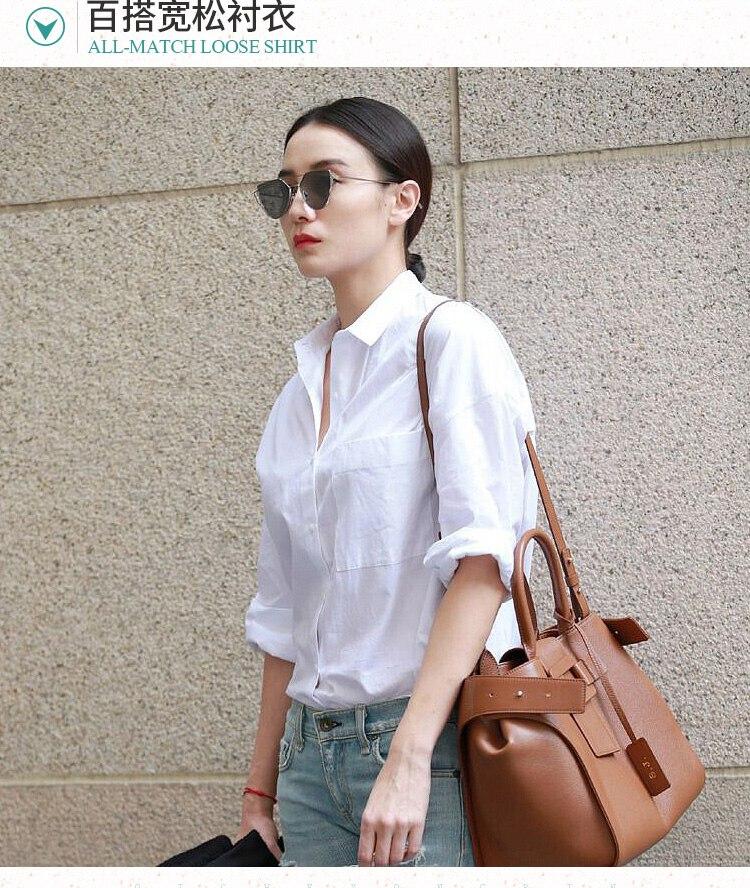 2018 spring shirt female loose shirt elegant long sleeve all match shirt