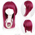 Magi Rose Red Mediuim Long Straight Synthetic Hair Cosplay Costume Wig