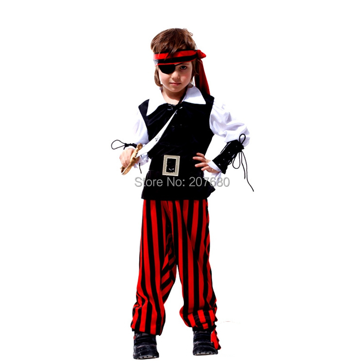 Boys Girls Kids Childs Captain Hook Book Week Fancy Dress Pirate Costume Outfit