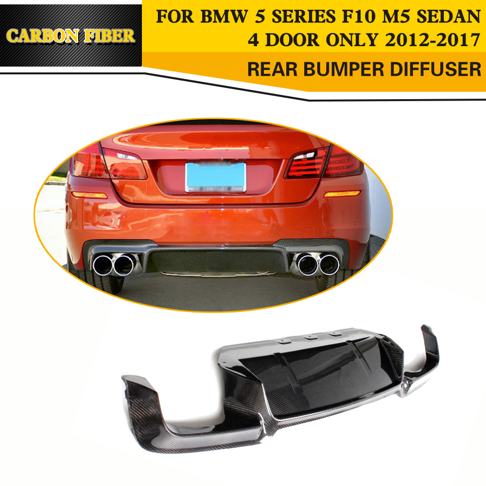 Carbon Fiber rear Lip Diffuser Lip splitter For BMW 5 Series F10 M5 Sedan 2012 - 2017
