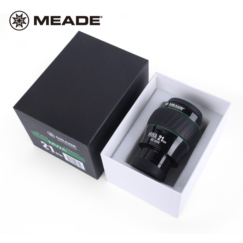 Meade Instruments 2 Inch 100 Degree MWA 21MM Astronomical Telescope Eyepiece 607018 9 Slices Fully Multi-coated Folding Eye Cups