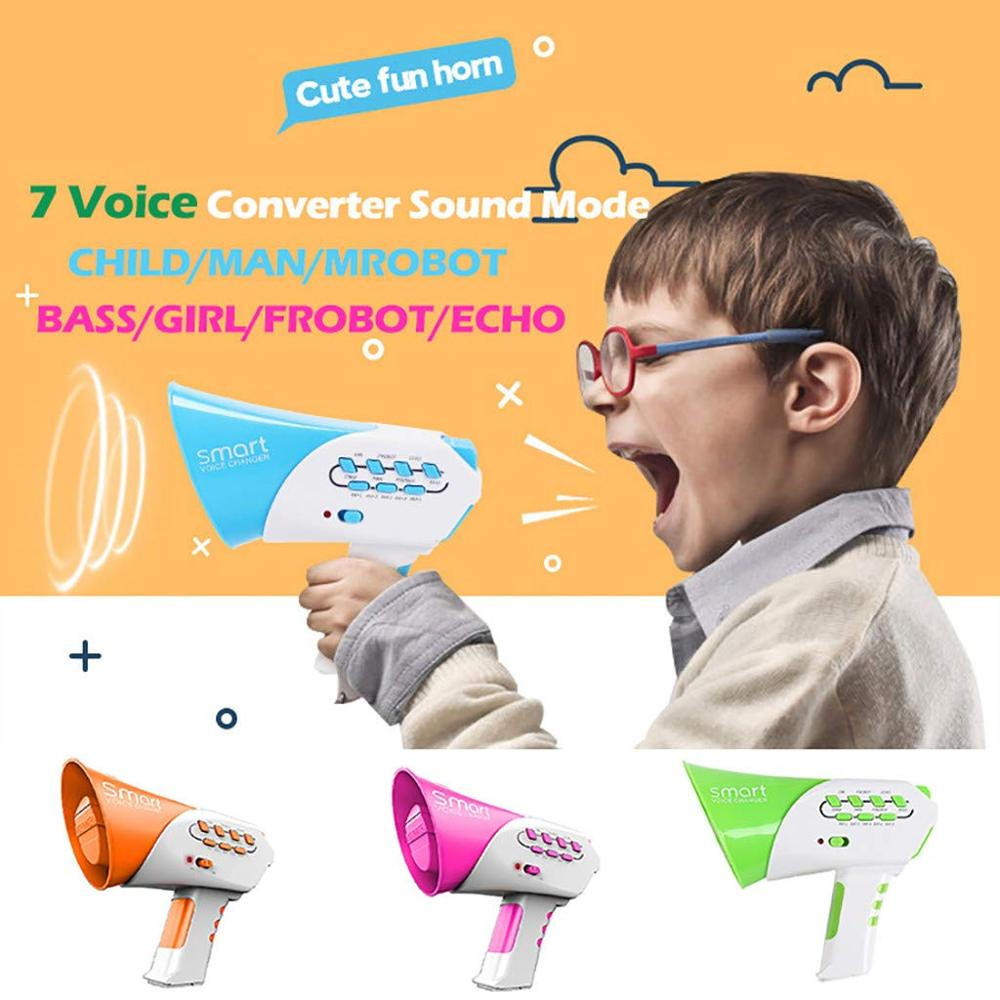 Electric Funny Multi 7 Voice Changer Speaker Smart Modifiers Amplifier Different Voices Educational Toy For Children Kids Gift