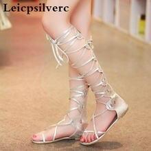 Летние новые женские модные ботинки с завязкой на плоской подошве