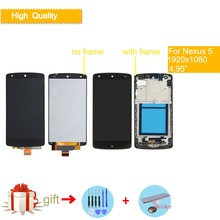 """4.95"""" ORIGINAL Display for LG Nexus 5 LCD Touch Screen with Frame Replacement For LG Google Nexus 5 LCD Display D820 D821"""