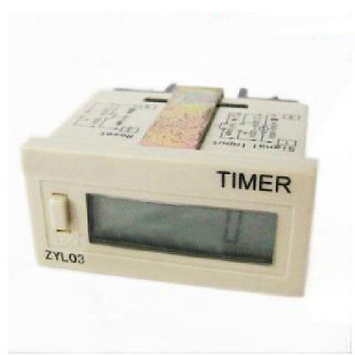 220V Digital Cumulative Time Counter Resetable Timer Count Working Hour