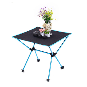 Image 2 - Outdoor picnic table camping portable aluminum folding table Oxford cloth waterproof ultra light travel desk furniture 4 color