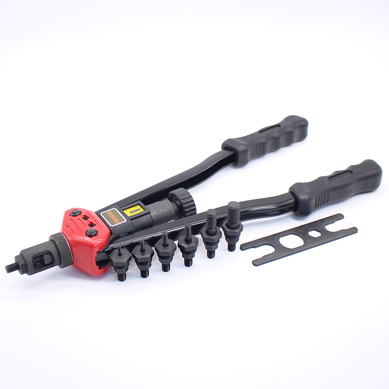 16 Heavy Duty Double Hand Manual Riveter Gun Hand Riveting Tool Hand Rivet Nuts Gun M3