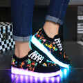led shoes  2017 superstar men light shoes woman flat with big size 4.5-14 print casual shoe 7 colors unisex shoes low price