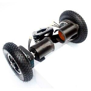 Image 2 - 11 بوصة شاحنة لوح التزلج الكهربائية فرش السيارات 8 بوصة Whlees قبالة الطريق لوح التزلج حزام محرك جسر 4 عجلة طويلة