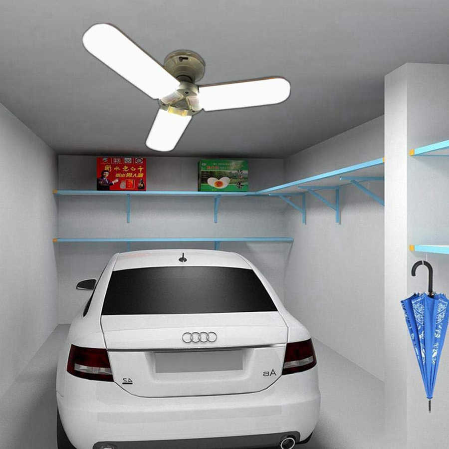 Супер яркий 45 Вт 3200LM светодиодный потолочный светильник для гаража внутренний деформируемый светильник для гаража шахтные лампы для склада, мастерской, подвала
