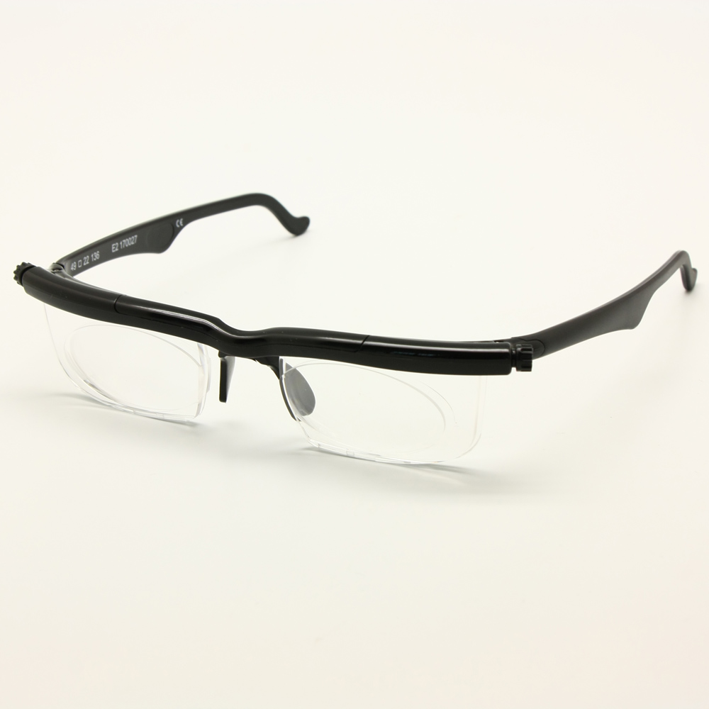 Adlens Focus Adjustable Reading Glasses Myopia Eyeglasses -6D to +3D Diopters Magnifying Variable Strength