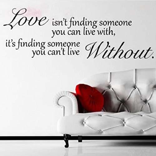 Decalques De Parede Papel De Parede Frases O Amor Não é Encontrar