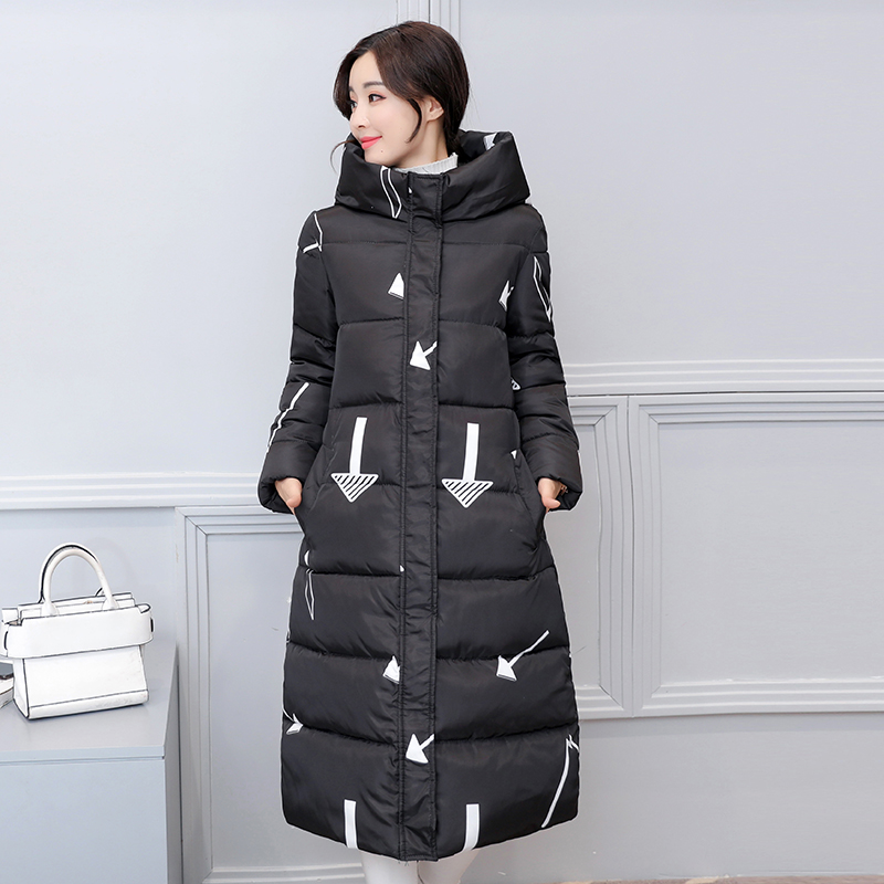 KUYOMENS 2017 Womens Jacket New Medium-Long Down Cotton Parka Plus Size Coat Women Winter Coat Long Women Warm Outerwear