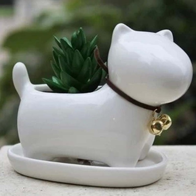 Animal Vase Puppy Small Pots Mini Potted Succulents Office