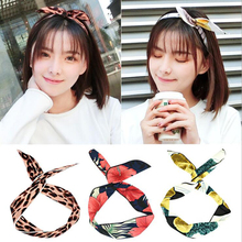 1PC Headwear New Beach Style Hair Bands DIY Princess Rabbit Girls Flower Headband Women Accessories