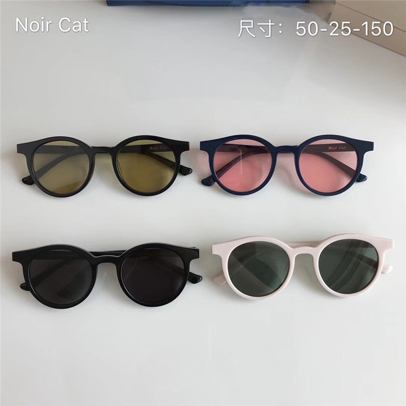 2018 New fashion Vintage Fashion Retro Round Sunglasses Noir Cat Sun Glasses Women Men Designer lens Gafas De Sol Original Case 2016 new fashion sunglasses women brand designer sun glasses vintage eyewear