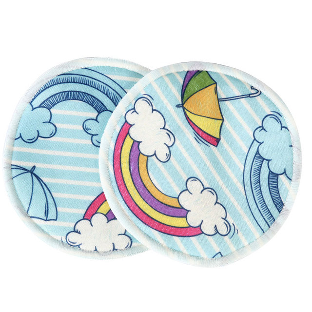 [simfamily]10PCS Bamboo Inner Nursing Pads Reusable Breast Pads Waterproof Printed Breast Absorbent Nursing Feeding Pad