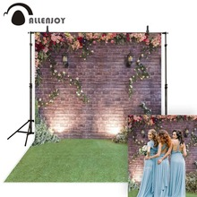 Allenjoy photo backdrops wedding brick flower grass fantasy backdrop original design props custom