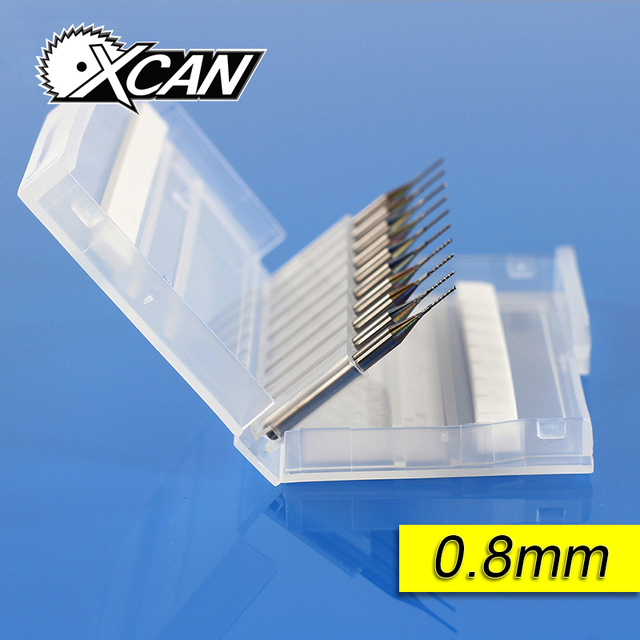 0.8mm  0.9mm  1.0mm 1.1mm 1.2mm Tungsten Steel  Carbide End Mill Engraving Bits CNC PCB Milling Cutter Drill Bit