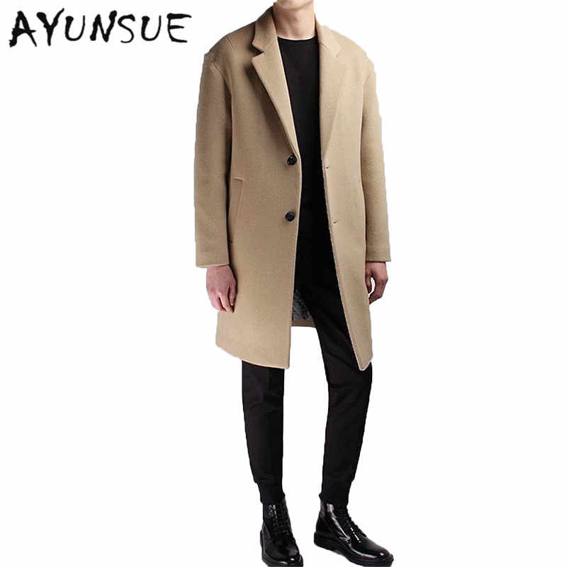 Medium Long Coat Wool Men Brand Clothing Pea Jacket Turn down Collar  Thicken Black Mens Coat Overcoat Camel Men's Coats WUJ1191|pea jacket|black  man coatcoat wool men - AliExpress