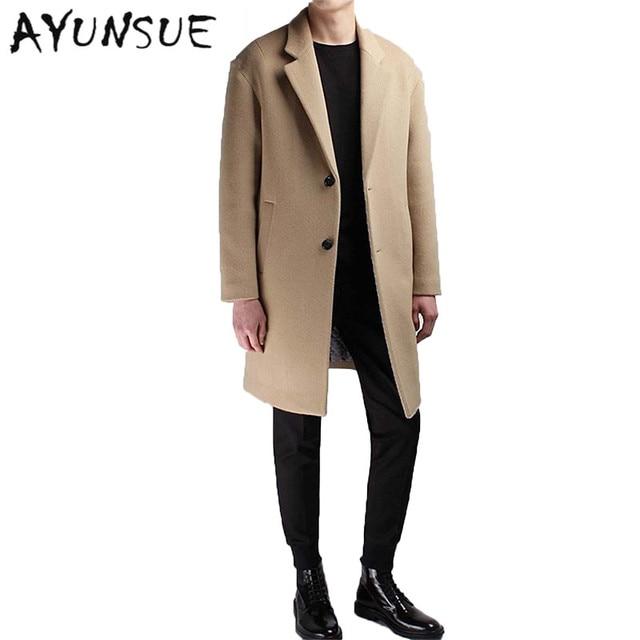 Mantel wolle herren beige