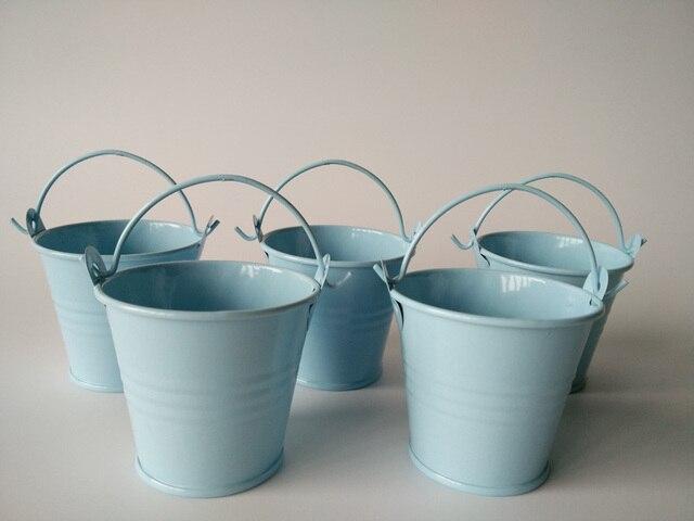 100pcs/lot wholesale d6*h5cm metal buckets mini pails use for favor