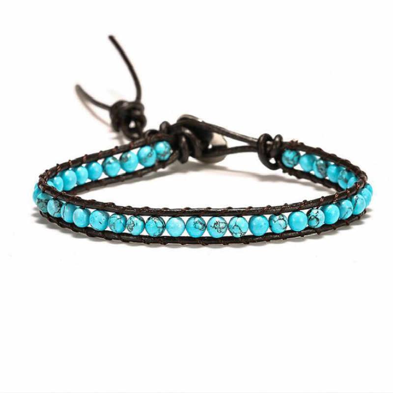 Grânulo wrap pulseira southwestern estilo womens frisado pulseiras artesanal tecido pulseiras presente para ela boho jóias