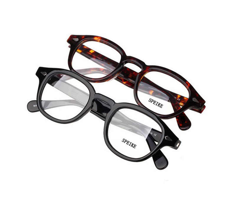 SPEIKE Customized New Fashion Lemtosh Johnny Depp style eyeglasses AAAAA+ quality Vintage round optical frames prescription lens