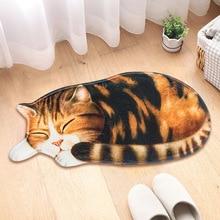 Большой 3D печатных Спящая кошка коврики прихожей двери ковер гостиная Спальня против скольжения коврики Кухня балкон ковры Tapete