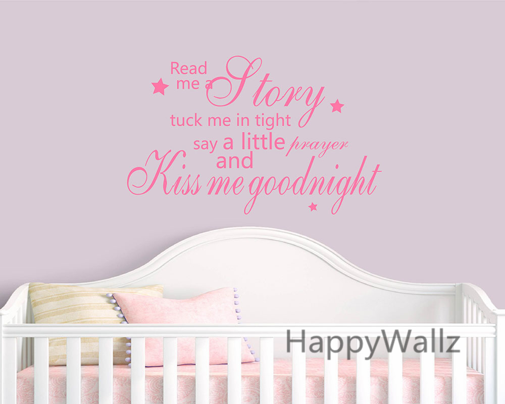 Kiss Me Goodnight Quote Wall Sticker Baby Nursery Kiss Me Goodnight - Διακόσμηση σπιτιού - Φωτογραφία 4