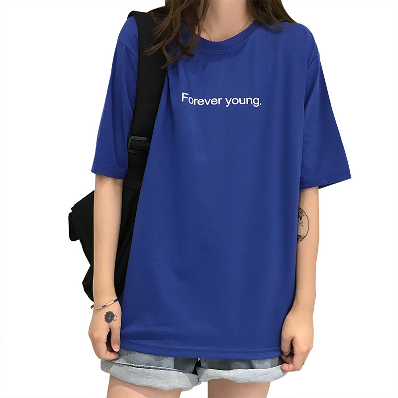 Summer shirt female short-sleeved student Korean version BF loose clothes large size T-shirt