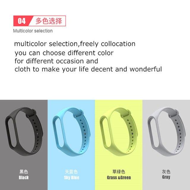 Bracelet for Xiaomi Mi Band 3 4 Sport Strap watch Silicone wrist strap For xiaomi mi band 3 4 bracelet Miband 4 3 Strap 3