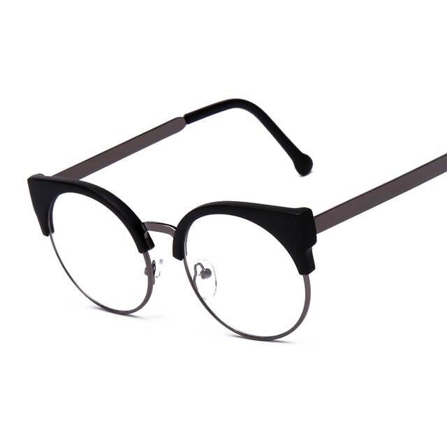 813ad101f1 placeholder Vintage Eyewear Women Brand Designer Cat Eye Nerd Glasses Retro  Eyeglasses Frames Classic Half Frame Elegant