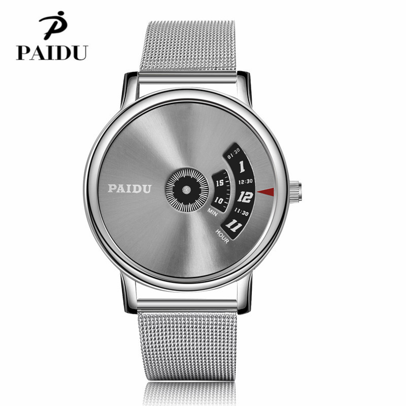 PAIDU Full Steel Watch Fashion Special Design Luxury Elegant Men Women Unisex Quartz Wristwatch Male Clock high quality relojes hot design leather strap watch elegant quartz wristwatch men women clock black