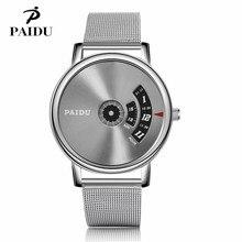 PAIDU Reloj de Acero Llena de Moda Diseño Especial de Lujo Elegantes  Mujeres de Los Hombres Unisex Reloj de pulsera de Cuarzo re. 09dd390f6292