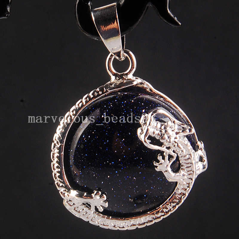 Dragon Bezel Choose Necklace Style Goldstone Sphere Dragon Clutching Jewel Dragon Lover Gift Goldstone Dragon Pendant Necklace