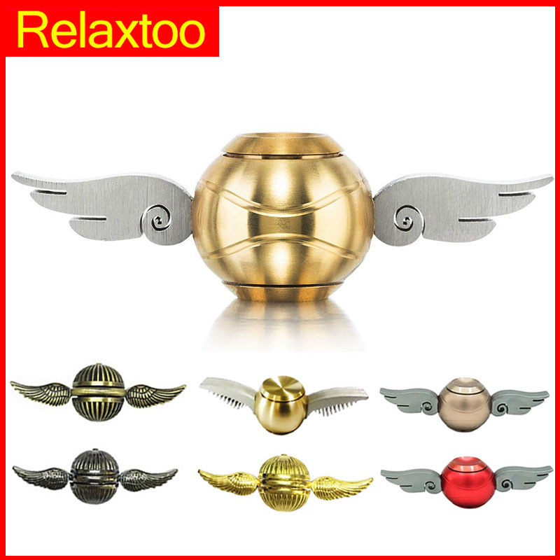 Colorful Cupid EDC Spinner Harry Potter golden snitch Fidget Spinner Metal Spiner Hand Spinner Finger Toy for Stress Adults Gyro four leaves colorful wings rainbow butterfly shaped metal hand fidget spinner toy edc toy spinner gift kids adult finger