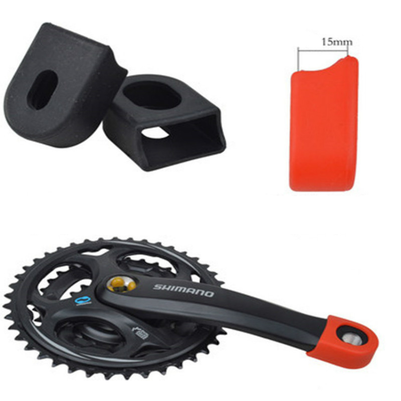 2 PCS Mountain Bike Silica Gel Protector Case MTB Bicycle Crank Protective Cover Cap Durable Bike Accessories