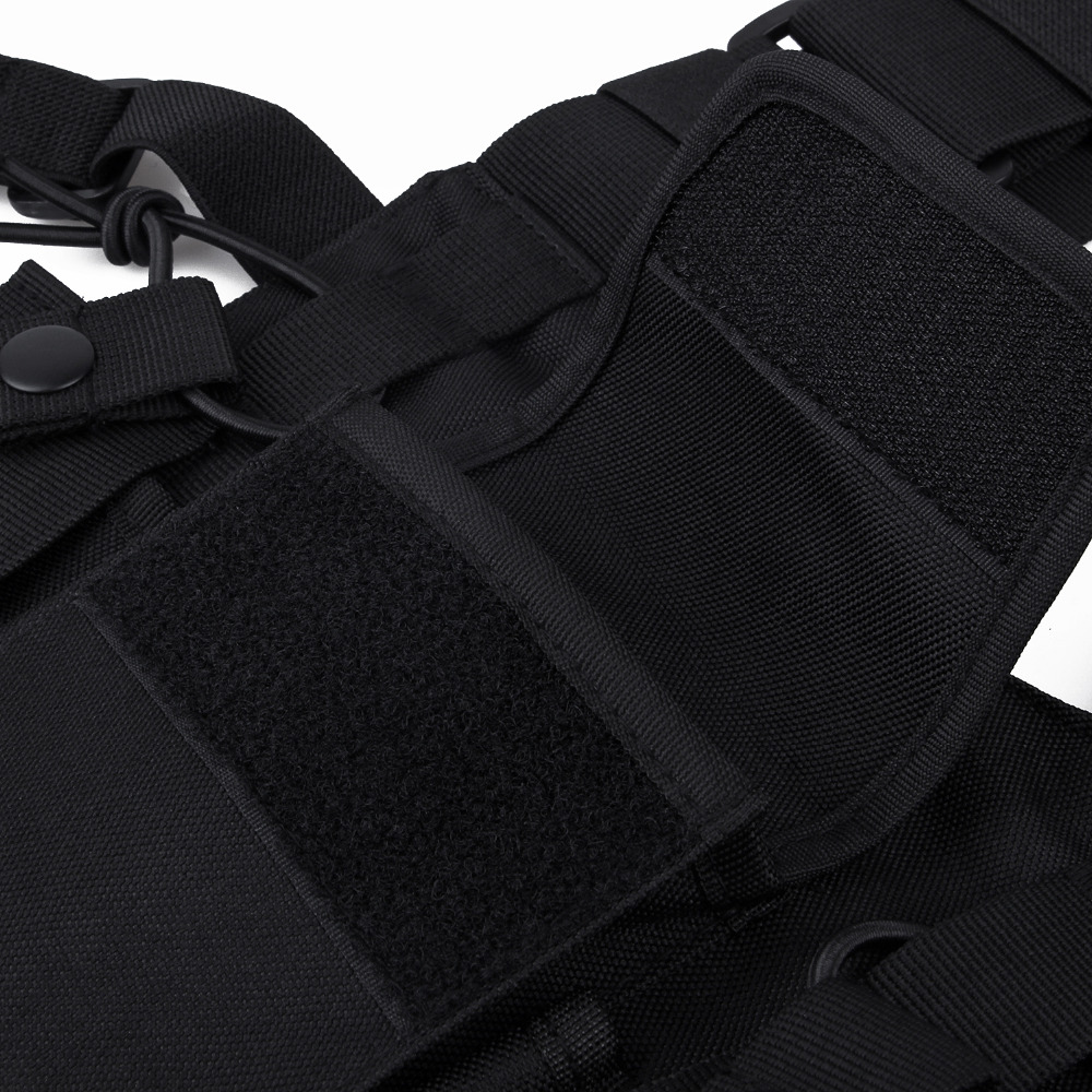Universal Walkie Talkie Carry Case For Walkie Talkie Double Chest Pocket Black Backpack For Handy CB Radio