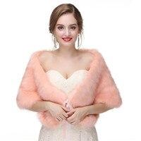 H&S BRIDAL Women Bolero Tie Faux Fur Bridal Wraps Wedding evening capes Lacing Prom Jacket Coat Winter Fur Shawl Wedding Boleros