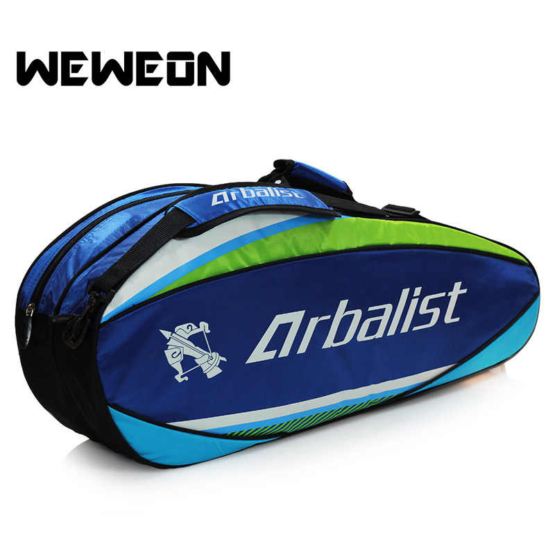 Sports Bag Tennis Rackets Backpack Badminton Shoulder Rackets Bag for Outdoor Sports 6 Pieces with Rackets Excluded