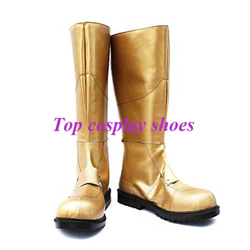 Freeshipping anime Cosplay gold Boots Inspired by 07-Ghost Teito Klein  Custom-Made for