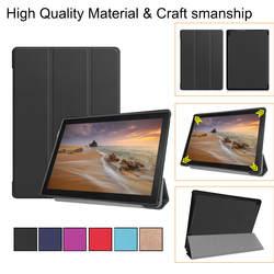HL складной чехол-книжка Тонкий Anti-Dust Стенд кожаный чехол для lenovo Tab E10 32 Гб TB-X104F Tablet 10,1 дюйма Drop.2.26