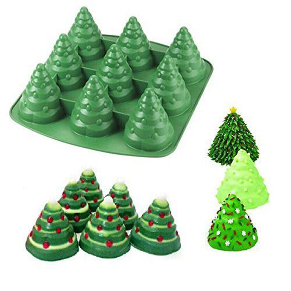 1 Pc 3d Forms Silicone Sugarcaft Christmas Tree Cake