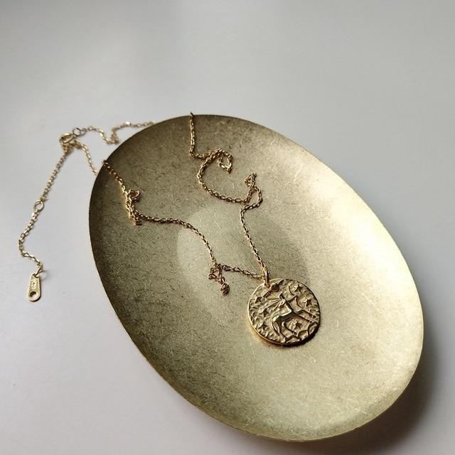 925 sterling silver baroque sagittarius pendant neckalce gold round constellatio